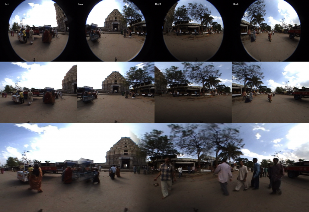 The entire panorama stitching process as one big image.
